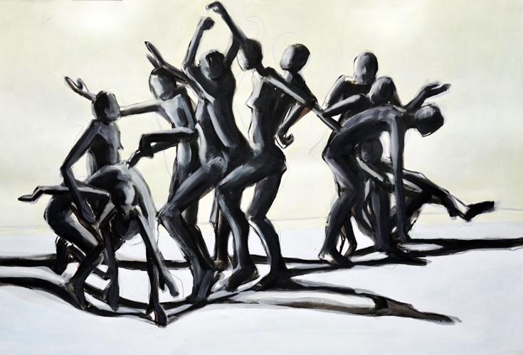 Bewegung 2011-14 Öl auf Papier, 44 x 64 cm