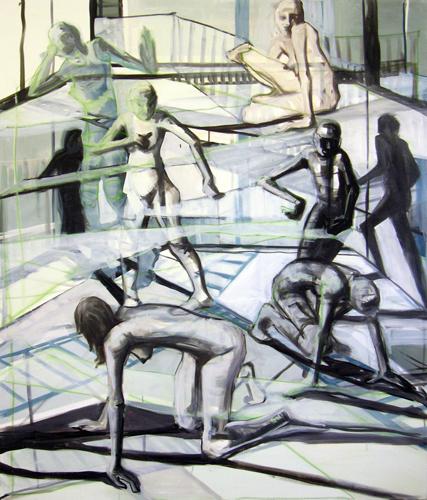 Parallelwelten 2011 Acryl und Öl auf LW, 210 x 180 cm