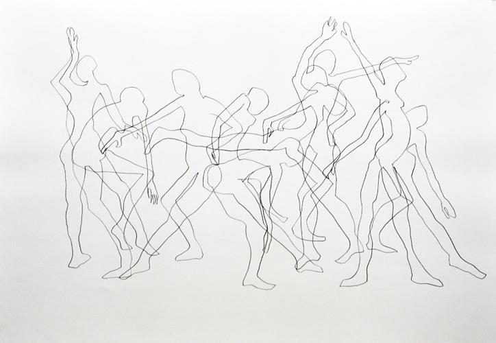 Bewegungsablauf 2012 Bleistift auf Papier, 44 x 64 cm
