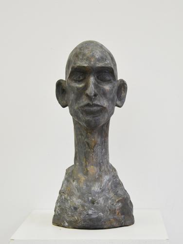 Davide . 2018 Bemalter Bronzeguss