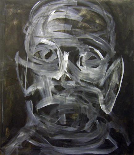 Schwarzer Kopf 2011 Acryl auf LW, 160 x 140 cm