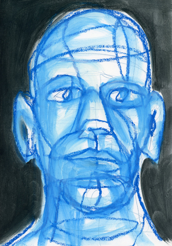 Dirk . 2014 Ölkreide auf Papier . 30 x 20 cm