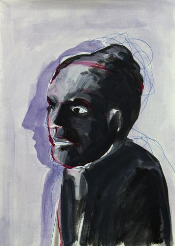 Frauenkopf 2013 Öl auf Papier, 29 x 21 cm