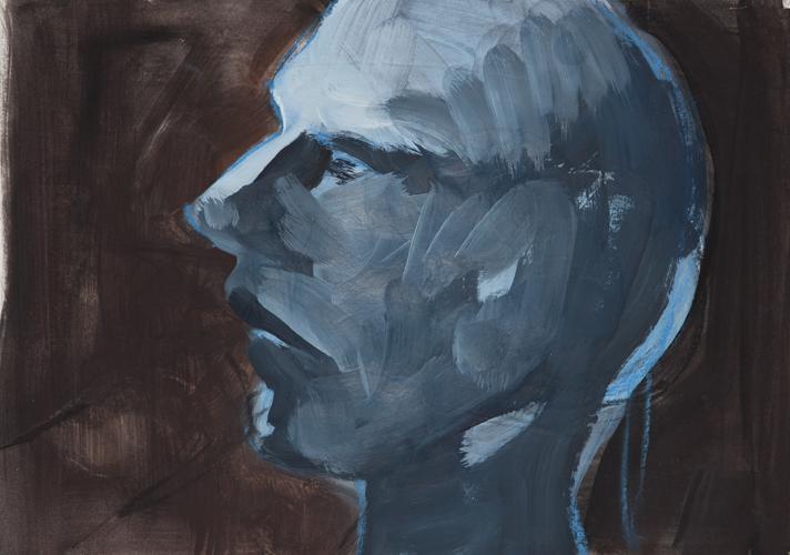 Kopf 2012 ÖL auf Papier. 29 x 21 cm