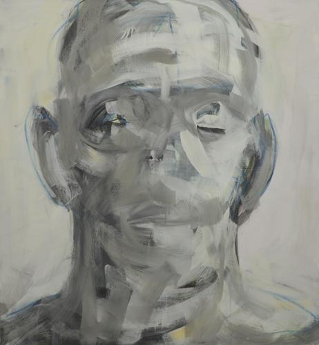 Kopf . 2011 Acryl auf LE . 120 x 110 cm