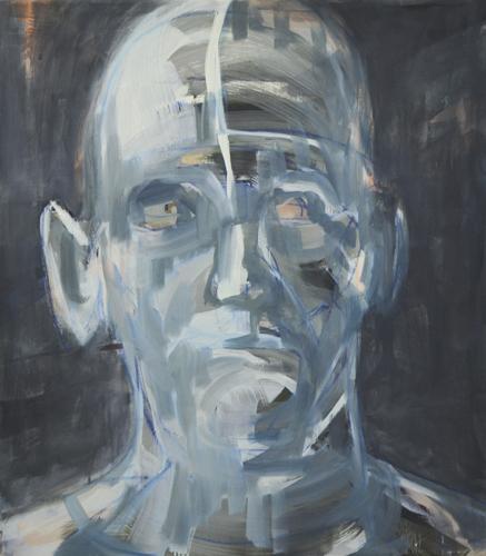 Kopf . 2011 Öl auf LA . 85 x 65 cm