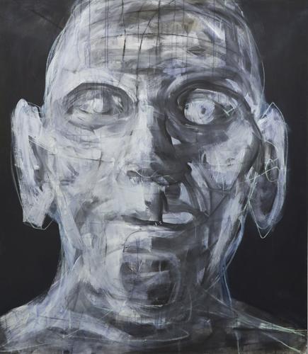 Kopf 3 -14 Öl, Acryl auf LW, 160 x 140 cm