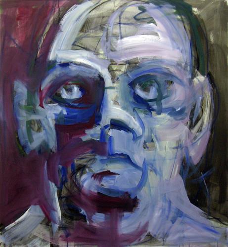 Kopf 4-14 2014 Öl und Acryl auf LW, 120 x 110 cm