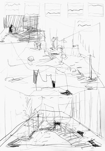 Rhythmus 2010 Bleistift auf Papier, 64 x44 cm
