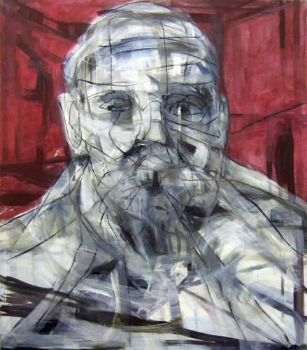 Roter Kopf 2011 Öl und Ölkreide auf LW, 160 x 140 cm