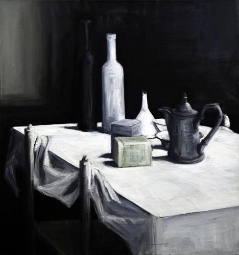 Stilleben . 2001 Öl auf LW . 70 x 65 cm