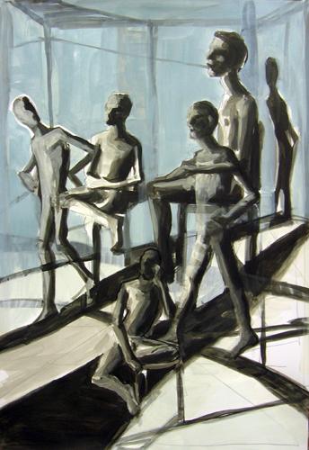 Irreal 2011 Acryl auf Papier, 64 x44 cm