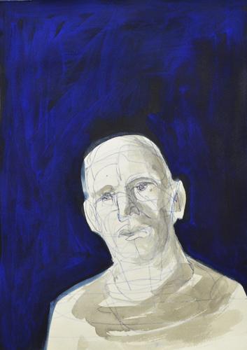 Kleiner Kopf 1 2014 Tusche, Kuli und Öl auf Papier 29 x 21 cm