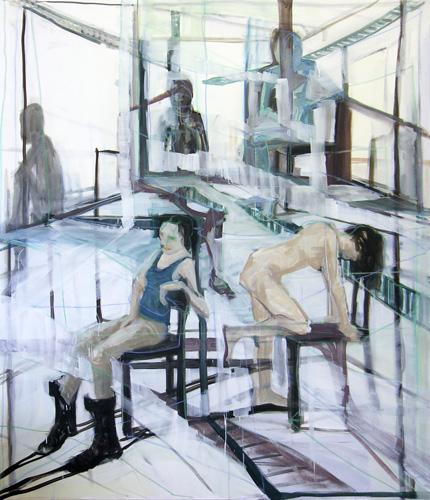 Komödie 2010 Acryl und Öl auf LW, 210 x 180 cm