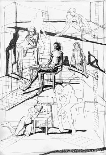 Gedankenräume 2010 Bleistift auf papier, 64 x 44 cm