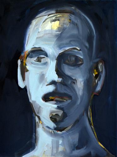 Kopf . 2009- 15 Öl auf LW . 43 x 33 cm
