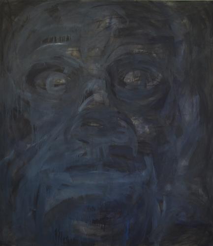 Kopf . 2015 Öl auf LW . 160 x 140 cm