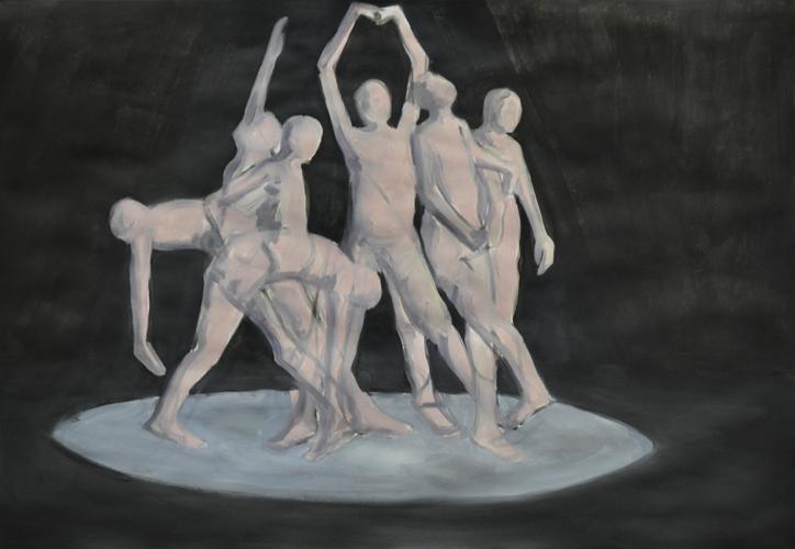oT . 2016 Öl auf Papier . 44 x 64 cm