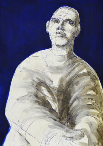 2015 Kuli, Acryl und Öl auf Papier . 30 x 20 cm