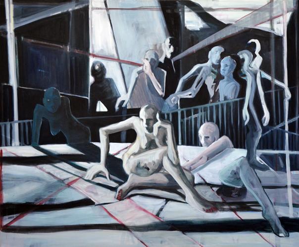 Illusion - oder woher wir kommen und wohin wir gehen? . 2015 Öl auf LW . 150 x 180 cm