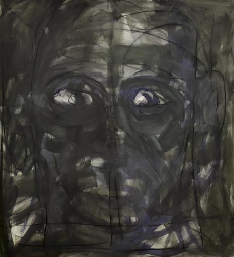 Kopf 15_2 . 2015 Acryl auf LW . 120 x 110 cm