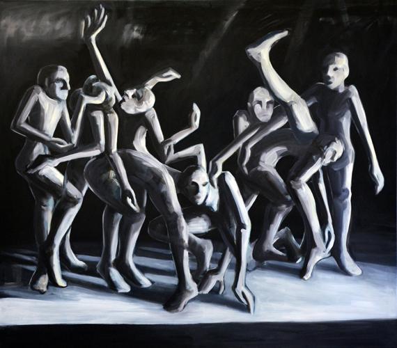 Maskerade . 2014- 15 Öl auf LW . 160 x 180 cm