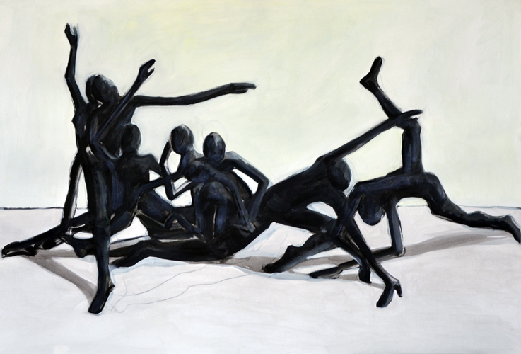 o.T. . 2016 Öl auf Papier . 44 x 64 cm