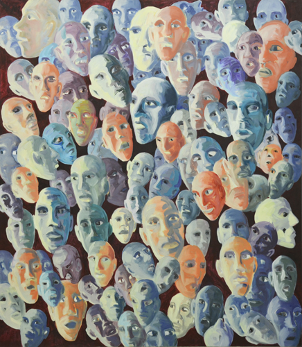 Kollektiver Geist . 2017_18  Öl auf LW . 160 x 140 cm