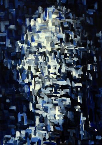 Kopf . 2009/15/21 Öl auf LW . 70 x 50 cm
